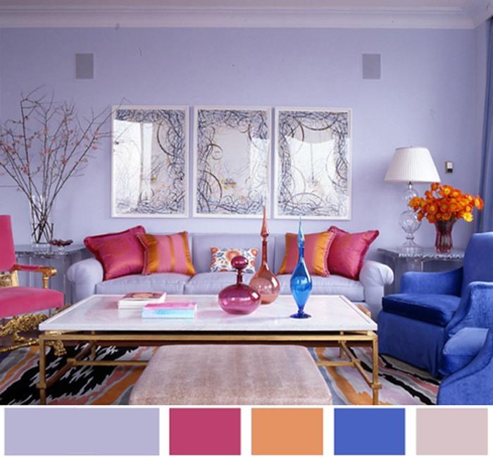 Сочетание цветов в интерьере гостинной